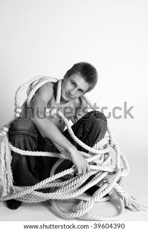Seaman with a rope
