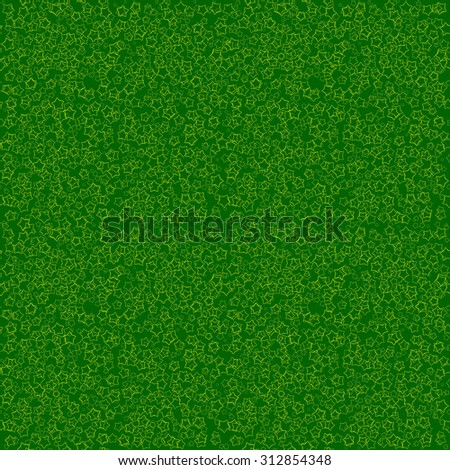 seamless abstract angular dark green pattern with yellow stars isolated on emerald background. raster illustration