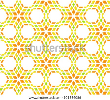 Seamless abstract background as bright orange and green geometrical texture