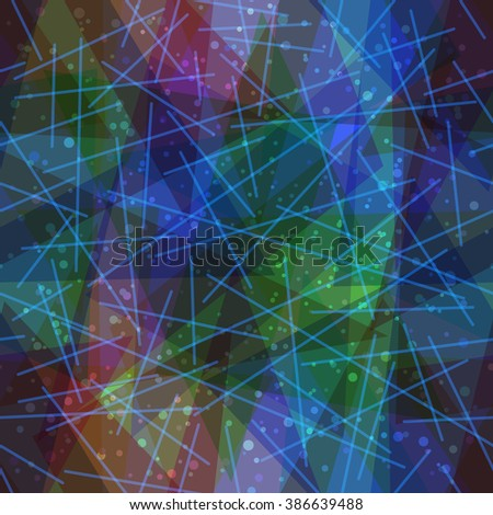 Seamless Abstract Background, Colorful Geometrical Figures and Lines - stock photo