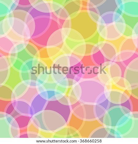 Seamless Abstract Background, Colorful Geometrical Figures, Circles and Rings - stock photo