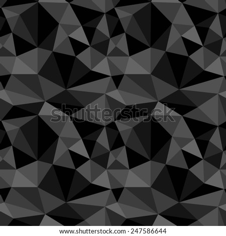 seamless abstract black grey pattern black gray texture abstract gray line on grey background with triangle raster - stock photo