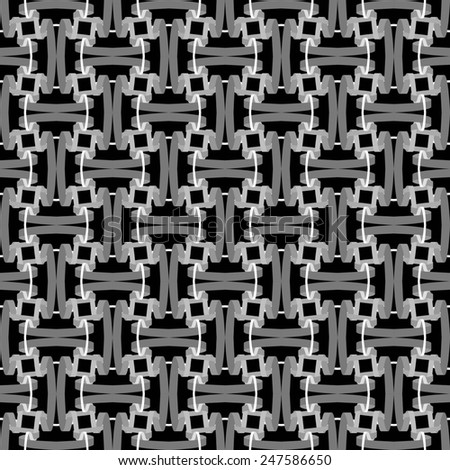 seamless abstract black white pattern black white texture with grey line wicker black white background raster - stock photo