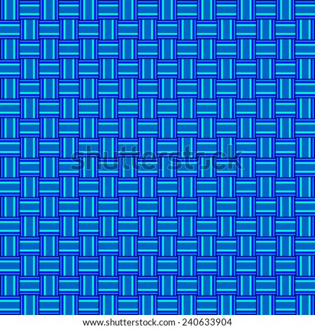 seamless abstract blue pattern cyan texture with blue line wicker blue cyan background raster - stock photo