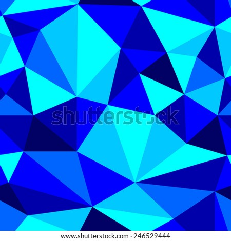 seamless abstract blue pattern navy texture abstract cyan line on blue background with triangle raster - stock photo