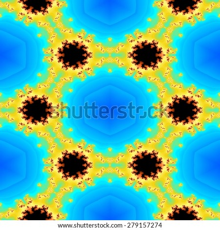 Seamless abstract colorful fractal geometric texture or background - stock photo