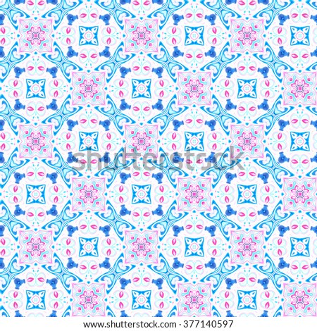 Seamless abstract colorful kaleidoscopic ornament for background