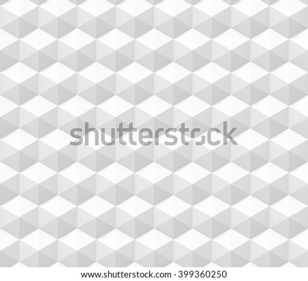 seamless abstract 3d background made of hexagon structures in white (3d illustration) - stock photo