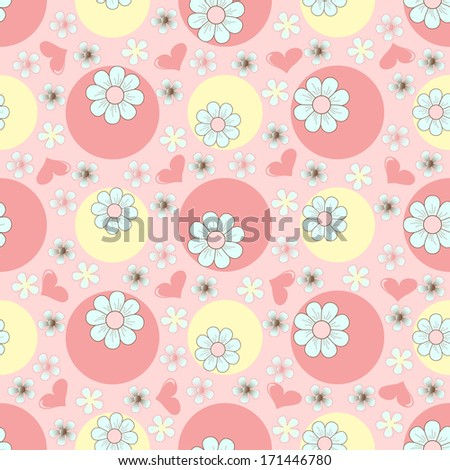 Seamless abstract floral illustration. raster copy