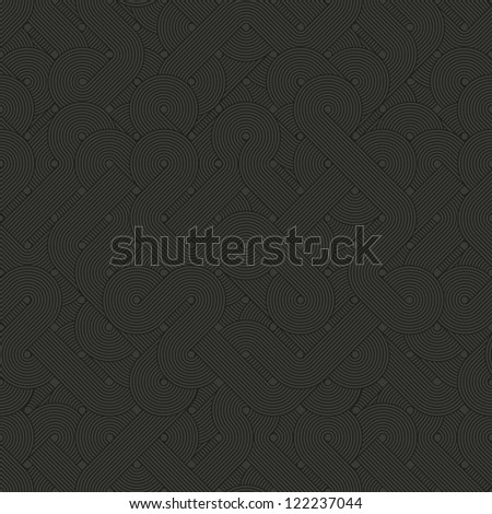 Seamless abstract pattern. Dark twisted lines - stock photo