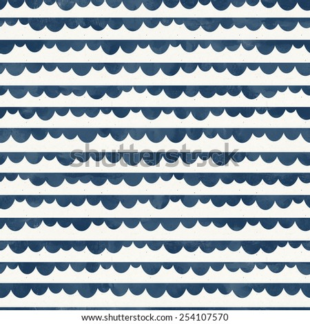 Seamless abstract pattern on paper texture. Cobalt blue collection - stock photo