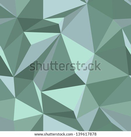 Seamless abstract pattern - repeating geometric triangle mosaic background - stock photo