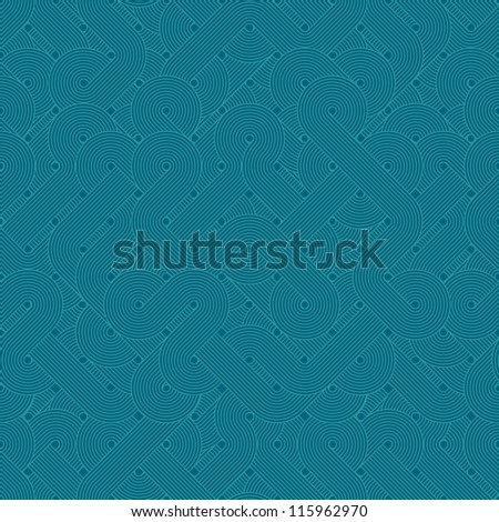 Seamless abstract pattern. Twisted lines. Green - stock photo