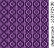 Seamless Abstract Purple Floral Pattern - stock photo