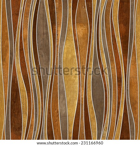 Seamless abstract wooden pattern, waves, veneer rosewood  - stock photo