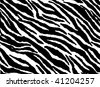Seamless animal pattern skin fur vector zebra - Vector version available in my portfolio - stock vector