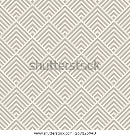 Seamless anthracite gray art deco square chevrons pattern - stock photo