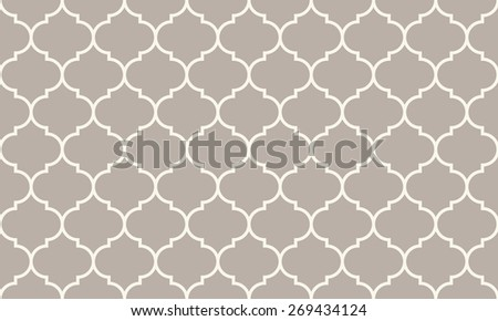 Seamless anthracite gray wide moroccan pattern - stock photo