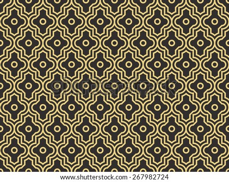 Seamless antique palette enhanced moroccan pattern - stock photo