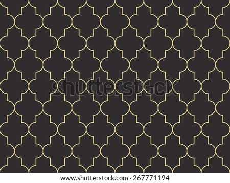 Seamless antique palette moroccan pattern - stock photo