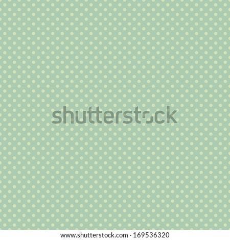 Seamless Aqua Green Dot Pattern - stock photo