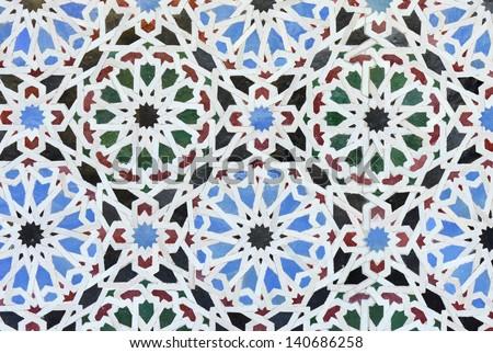 Seamless Arabesque Background - stock photo