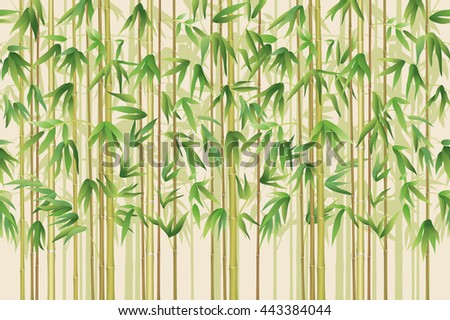 Seamless Background, Bamboo Plants