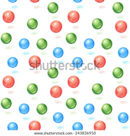 seamless background colored balls rgb colors for your design - stock photo