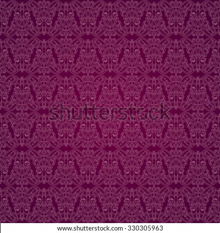 Seamless Background In Arabic Style Purple Wallpaper With Patterns For Design Traditional Oriental Decor