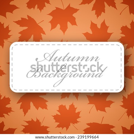 Seamless background made of maple leafs in warm autumn colors - stock photo
