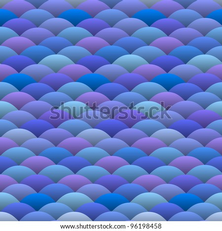 Seamless background of abstract blue waves in japanese style - stock photo
