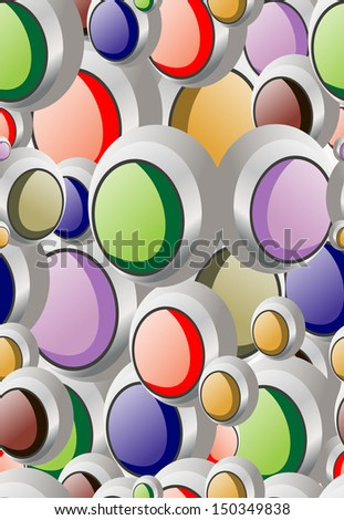 Seamless background of colorful buttons