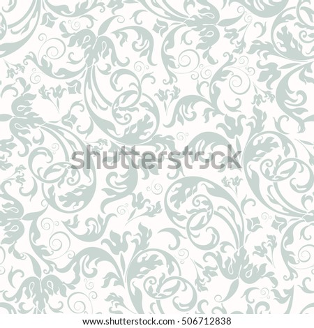Seamless background of light blue color in the style of Damascus