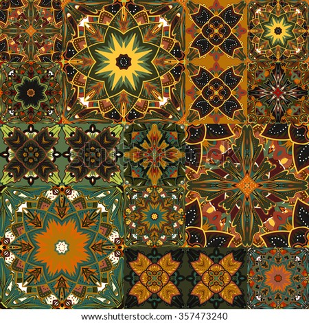 Seamless background pattern. Will tile endlessly. Patchwork pattern