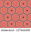 Seamless background pattern with bicycle wheels. Raster version. - stock photo