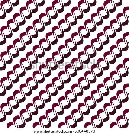 Seamless background pattern with repeating endless chains isolated on the white background.
