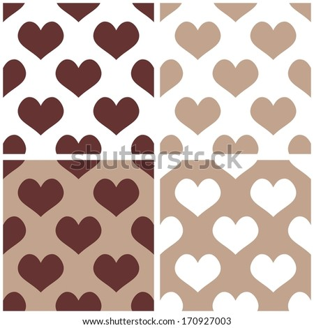 Seamless Background Set With Hearts Full Of Love Pattern For Valentines Desktop Wallpaper Or Website