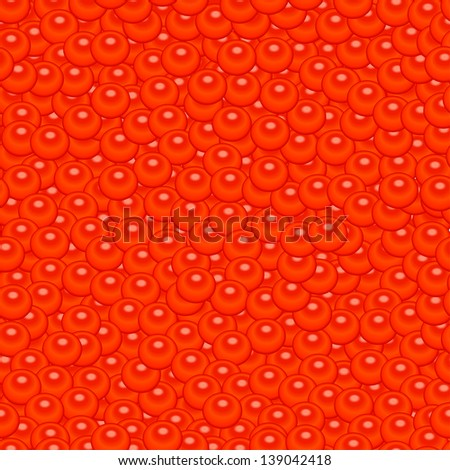 Seamless background texture of realistic red caviar. raster version, vector file also included - stock photo