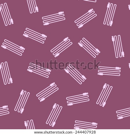 seamless background: usb, plug - stock photo