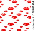Seamless background with lips. Raster version. - stock