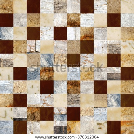 Seamless background with marble and stone patterns of different colors. Endless texture can be used for wallpaper, pattern fills, web page background, surface textures - stock photo