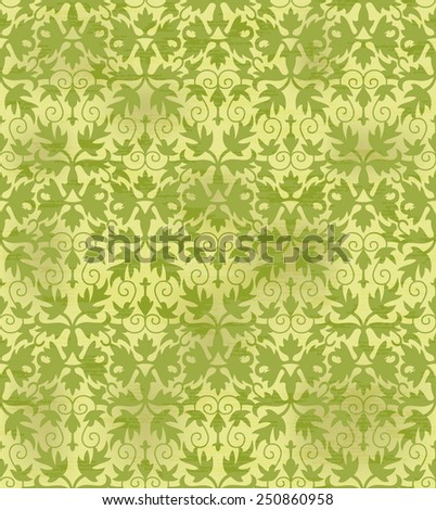 Seamless background with retro pattern. floral ornament