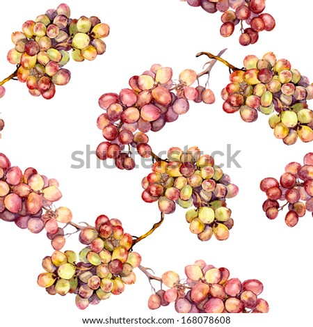 Seamless background with ripe grape - stock photo