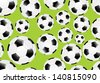 Seamless Background with soccer balls. - stock photo