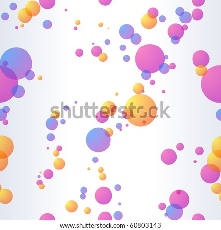 Seamless background with transparent bubbles (jpg); Eps10 version also available - stock photo