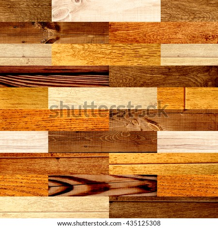 Seamless background with wooden patterns of different colors. Endless texture can be used for wallpaper, pattern fills, web page background, surface textures - stock photo