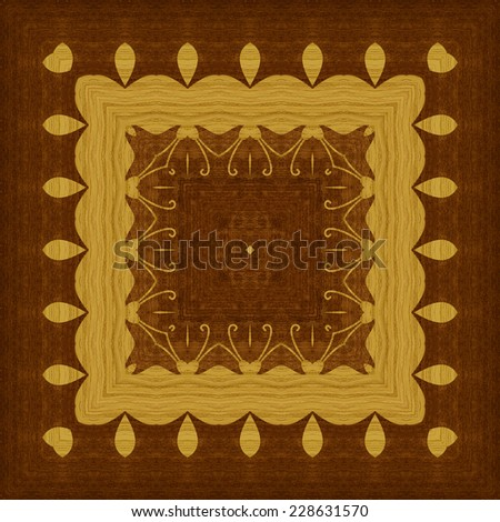 Seamless background, wooden veneer marquetry, abstract artistic pattern - stock photo