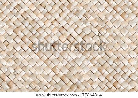 Seamless bamboo twigged mat texture - stock photo