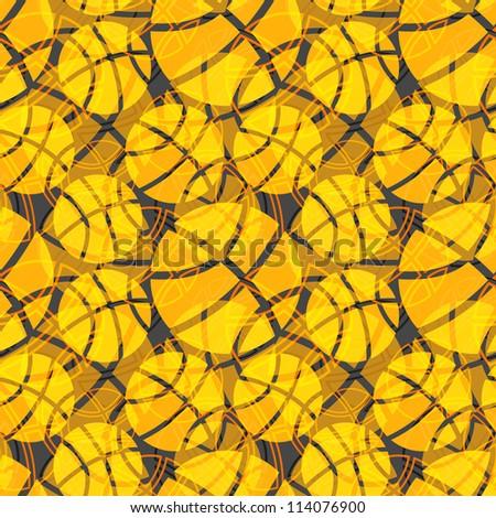 Seamless basketball ball abstract texture raster orange pattern - stock photo