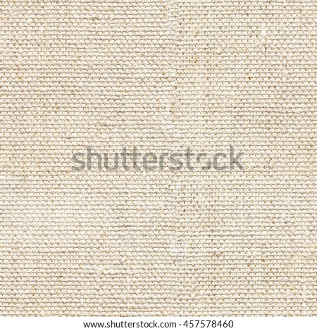 Seamless beige canvas textile background. Endless fabric pattern. The high resolution blank texture. - stock photo